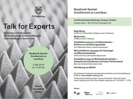 Talk for Experts - Bauphysik Spezial